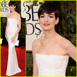Anne Hathaway at Golden Globes 2013
