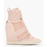 Chloe Pink Snakeskin Wedge sneaker