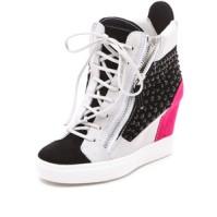 Giuseppe Zanotti Double zip Wedge Sneaker
