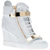 Giuseppe Zanotti Metallic Wedge sneaker