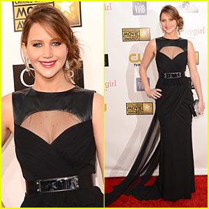 Jennifer Lawrence at Critics Choice Awards