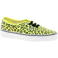 Vans Neon Yellow Leopard sneaker