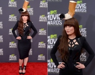 Hana Mae Lee's look was... ummm. Not quite sure what to say about her burned cigarette hat