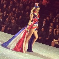 Taylor Swift brought the model fierceness donning a british inspired look