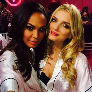 Flawless Beauties Joan Smalls and Lily Donaldson