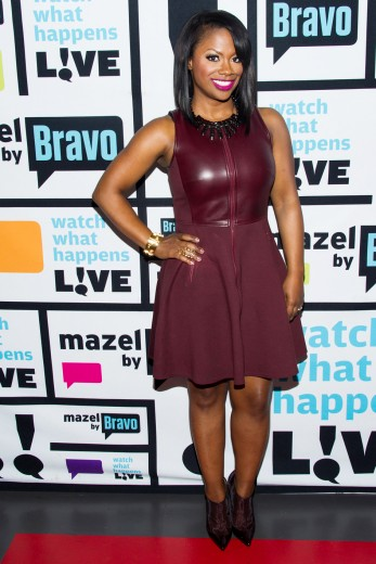 kandi-burruss-watch-what-happens-live-tibi-leather-combo-dress
